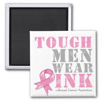 Tough Men Wear Pink 2 Inch Square Magnet