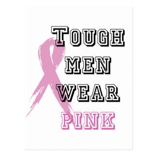 Tough men wear pink postcard
