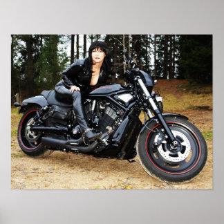 Tough motorcycle with tough mc-tjej! poster