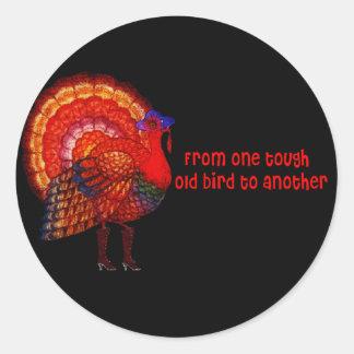 Tough Old Bird Classic Round Sticker
