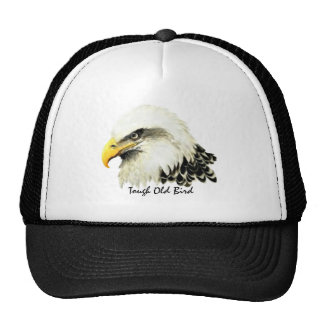 Tough Old Bird Fun Quote Bald Eagle Painting Trucker Hat