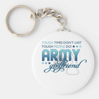 Tough People Army Girlfriend Keychain