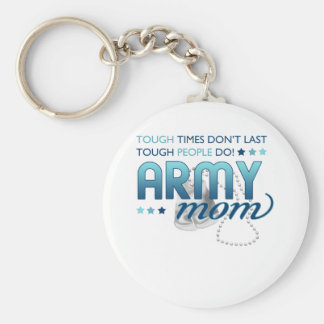 Tough People (Army Mom) Keychain