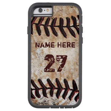 Christmas Themed Tough Personalized Vintage Baseball iPhone Cases