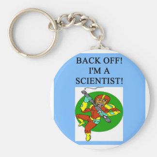 tough scientist basic round button keychain