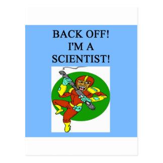 tough scientist postcard