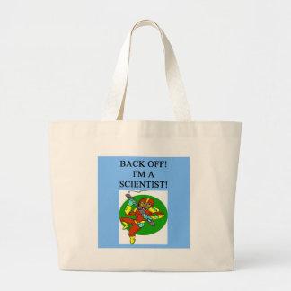 tough scientist tote bag