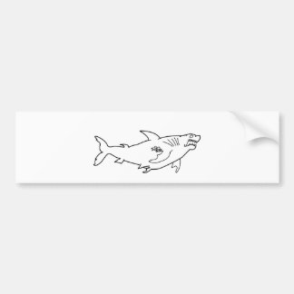 Tough Shark with Mom Tattoo Bumper Sticker
