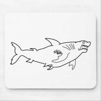Tough Shark with Mom Tattoo Mousepad