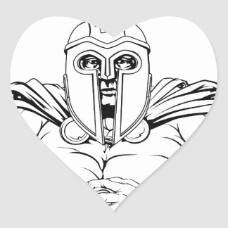 Tough spartan heart sticker