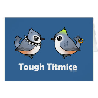 Tough Titmice Greeting Card