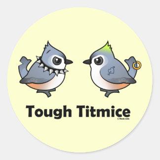 Tough Titmice Round Stickers