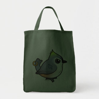 Tough Titmouse Tote Bags