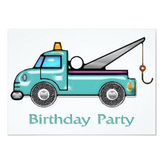Tough Tow Truck Birthday Invitation