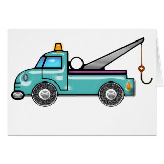 Tough Tow Truck Blank Card