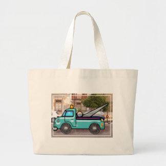 Tough Tow Truck in Street copy Large Tote Bag