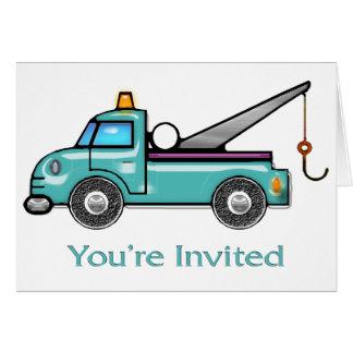 Tough Tow Truck Invite Card