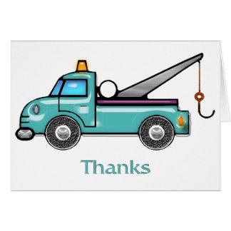 Tough Tow Truck Thanks Card