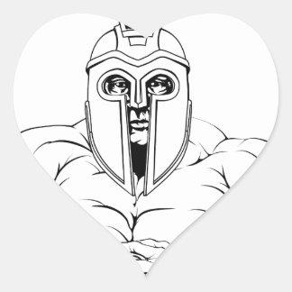 Tough trojan spartan or gladiator heart sticker
