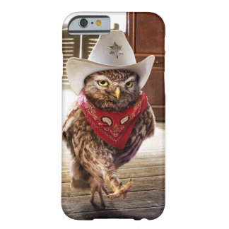 Tough Western Sheriff Owl with Attitude & Swagger Barely There iPhone 6 Case