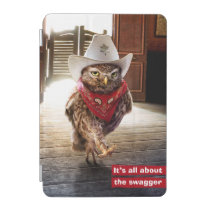 Tough Western Sheriff Owl with Attitude & Swagger iPad Mini Cover