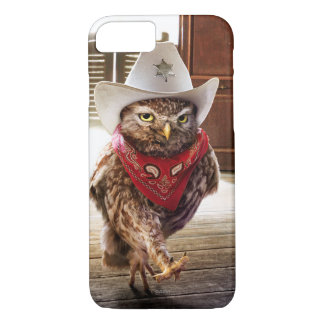 Tough Western Sheriff Owl with Attitude & Swagger iPhone 8/7 Case