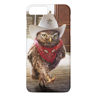 Tough Western Sheriff Owl with Attitude & Swagger iPhone 8 Plus/7 Plus Case