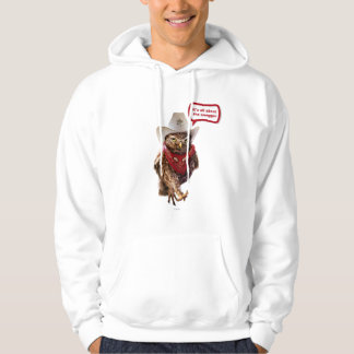 Tough Western Sheriff Owl with Attitude & Swagger Pullover