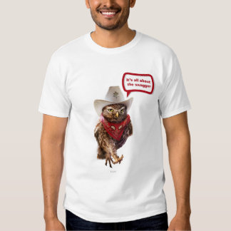 Tough Western Sheriff Owl with Attitude & Swagger T Shirt