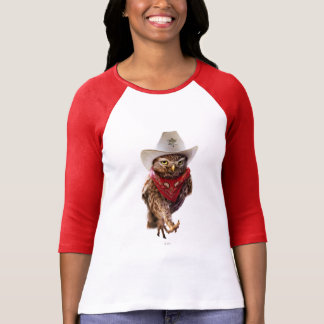 Tough Western Sheriff Owl with Attitude & Swagger T-Shirt