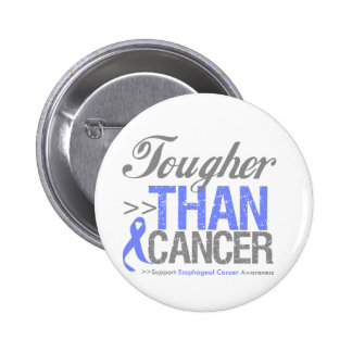 Tougher Than Cancer - Esophageal Cancer Pinback Button
