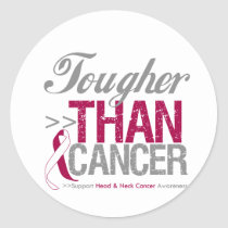 Tougher Than Cancer - Head and Neck Cancer Classic Round Sticker