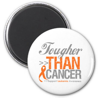 Tougher Than Cancer - Leukemia Refrigerator Magnet