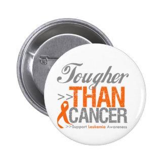 Tougher Than Cancer - Leukemia Pinback Button