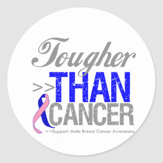 Tougher Than Cancer - Male Breast Cancer Round Stickers