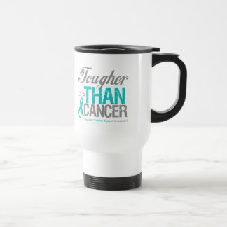 Tougher Than Cancer - Ovarian Cancer 15 Oz Stainless Steel Travel Mug