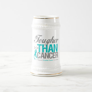 Tougher Than Cancer - Ovarian Cancer 18 Oz Beer Stein