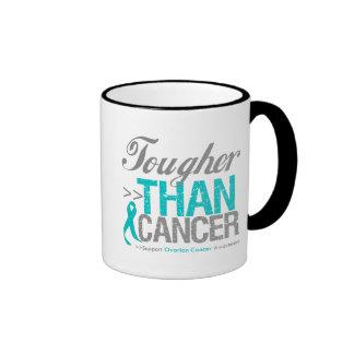 Tougher Than Cancer - Ovarian Cancer Ringer Coffee Mug