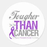 Tougher Than Cancer - Pancreatic Cancer Round Sticker