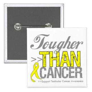 Tougher Than Cancer - Testicular Cancer Buttons