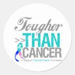 Tougher Than Cancer - Thyroid Cancer Classic Round Sticker