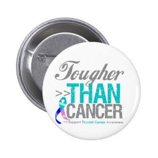 Tougher Than Cancer - Thyroid Cancer Pinback Button