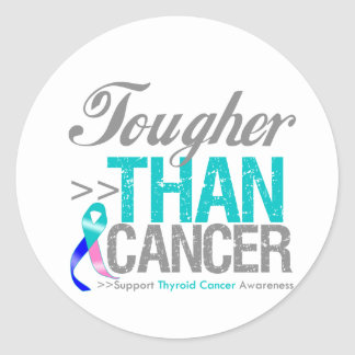 Tougher Than Cancer - Thyroid Cancer Stickers