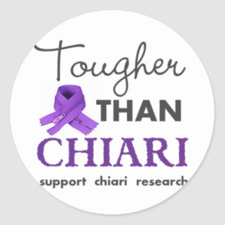 Tougher than Chiari Classic Round Sticker