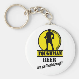 Toughman Beer Shirt Basic Round Button Keychain