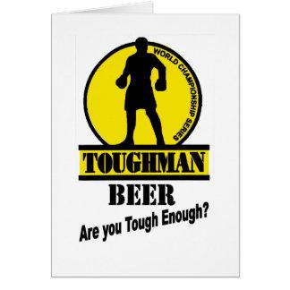 Toughman Beer Shirt Card