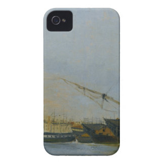 Toulon Battleships Dismantled by Camille Corot iPhone 4 Cover