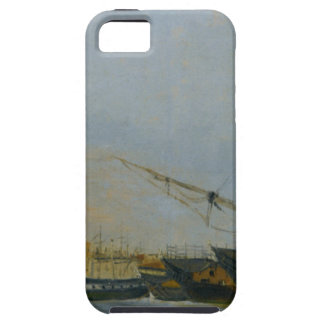 Toulon Battleships Dismantled by Camille Corot iPhone SE/5/5s Case
