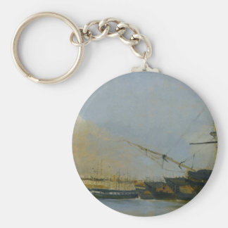 Toulon Battleships Dismantled by Camille Corot Keychain