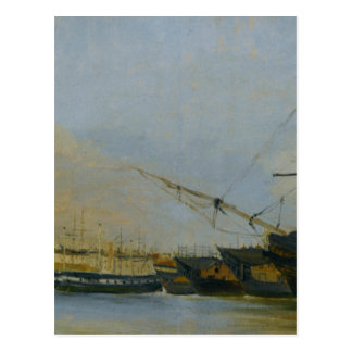 Toulon Battleships Dismantled by Camille Corot Postcard